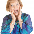Frightened Elderly Woman — Stock Photo