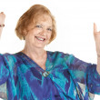 Laughing Woman With Hands Up — Stock Photo #13127950