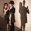 Tango Dancer with Leg On Partner — Stock Photo