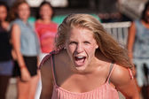 Screaming Teenage Girl — Stock Photo
