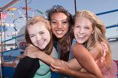 Drie beste vrienden samen — Stockfoto