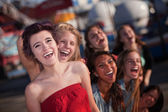 Hysterical Group of Girls Laughing — Stock Photo