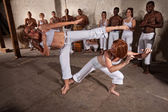 Capoeria Fighters Demonstrating Martial Arts — Stock Photo