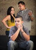 Jonge tiener afstand uit — Stockfoto