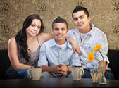Hispanic Family of Three — Stockfoto