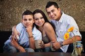 Joyful Hispanic Family — Stock Photo