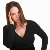 Upset Woman With Hand on Head — Stock Photo