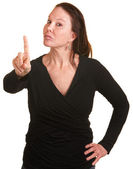 Lady Wagging Her Finger — Stock Photo