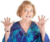 Frightened Senior Female — Stock Photo