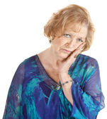 Tired Older Woman — Stock Photo