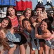 Stylish Group of Teens at a Carnival — ストック写真