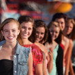 Group of Girls Smiling — Stock Photo