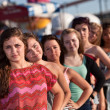 Serious Teenager with Friends — Stock Photo