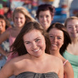 Youthful Group of Teen Girls — Stockfoto