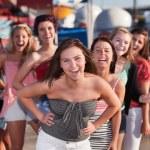 Eight Girls Laughing — Stock Photo