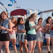 Teen Girls Text Messaging — ストック写真