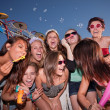 Stock Photo: Group of Laughing Teen Girls