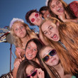 Girls Outside Making Faces — Stock Photo #13313522