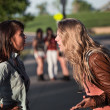 Two Girls Arguing — Stock Photo