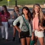 Tought Female Students — Stock Photo