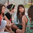 Stock Photo: Female Students Talking Outdoors