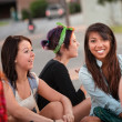Diverse Group of Teenage Girls Talking — Stock Photo