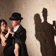 Tango Dancers Under Spotlight — Stock Photo
