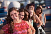 Confident Teen with Girlfriends — Stock Photo