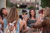 Female Students Laughing Together — Stock Photo