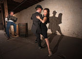 Rustic Urban Tango Dancers — Stock Photo