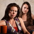 Worried Women Sitting — Stockfoto