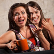 Stock Photo: Surprised Women Laughing