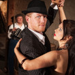 Handsome Tango Dancer with Partner — Stock Photo