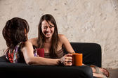 Female Friends Laughing — Stock Photo
