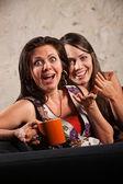 笑いながら驚きの女性 — ストック写真