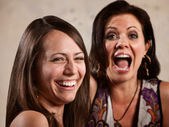 Pair of Ladies Laughing — Stock Photo