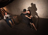 Young Tango Dancers Performing — Stock Photo