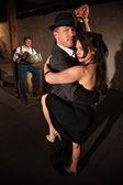 Woman and Man in Tango Dance — Stock Photo