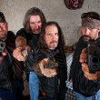 Biker Gang With Weapons — Stock Photo