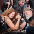 Stock Photo: Serious Woman Arm Wrestling
