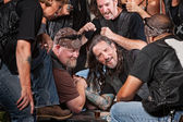 Man Loses Arm Wrestling Contest — Stock Photo