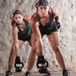 Stockfoto: Serious Boot Camp Style Workout