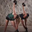 Ladies Doing Boot Camp Workout — Foto de stock #14933929