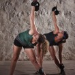 Ladies Doing Boot Camp Workout - Stock Photo