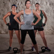 Foto Stock: Ladies Finishing Boot Camp Workout