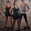 Sweating Ladies Finish Their Boot Camp Workout — Stock Photo