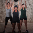 Sweating Women Doing Boot Camp Exercises — Stockfoto