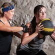Boot Camp Workout Training with Medicine Ball — Stock Photo #14934297