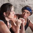 Trainer Watching Athlete During Boot Camp Training — Stock Photo #14934321