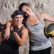 Excited Boot Camp Training Partners — Stock Photo #14934367